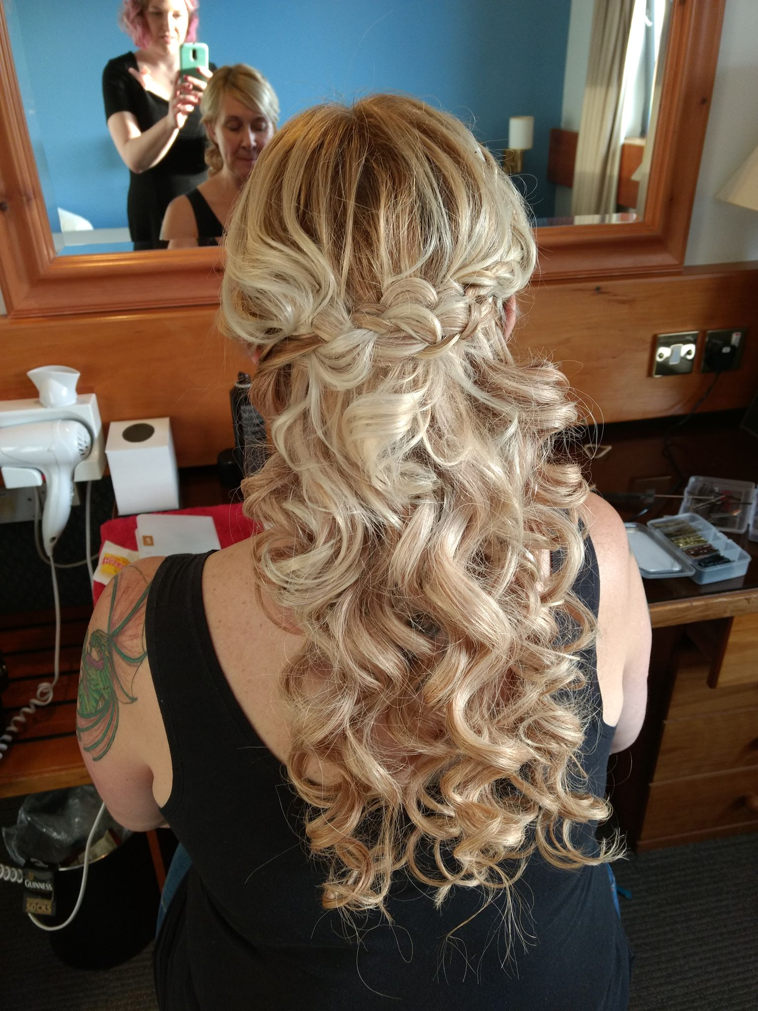 Romantic hairstyle bridal