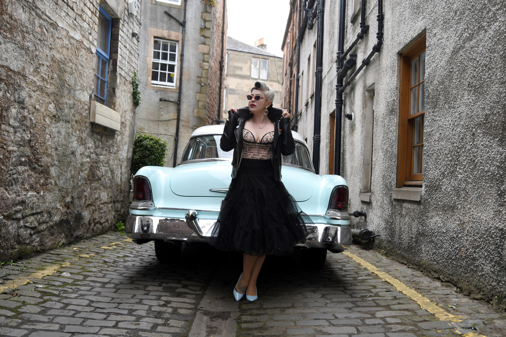 edinburgh hair and make up vintage rockabilly pin up photo editorial