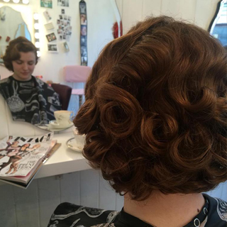 Hair up for a wedding