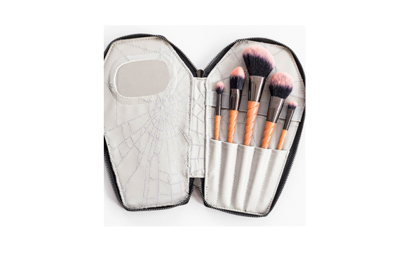 makeup brushes in case