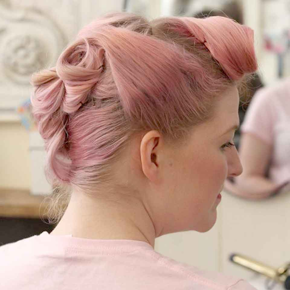 Pink Pleated Hair