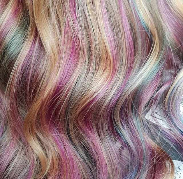 Creative Coloured Hair Styles