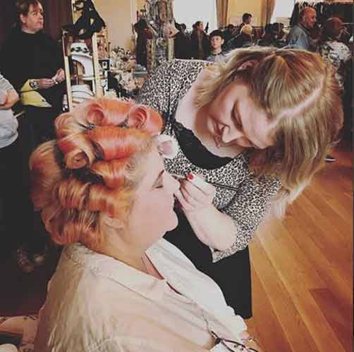 Jenny our make up artist at Lou Lou's Edinburgh Vintage Fair