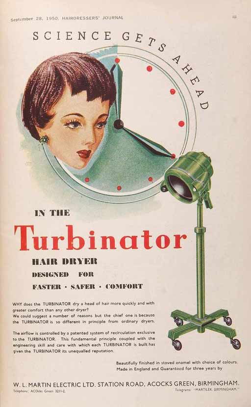Vintage Turbinator Hair Advert