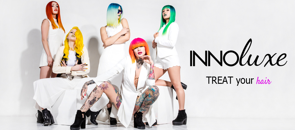 innoluxe models with colourful vibrant hair